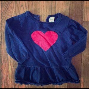 9 month Carter's heart sweater